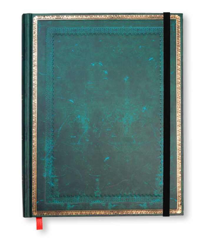 Ultra Viridian Old Leather Paperblanks Notebook