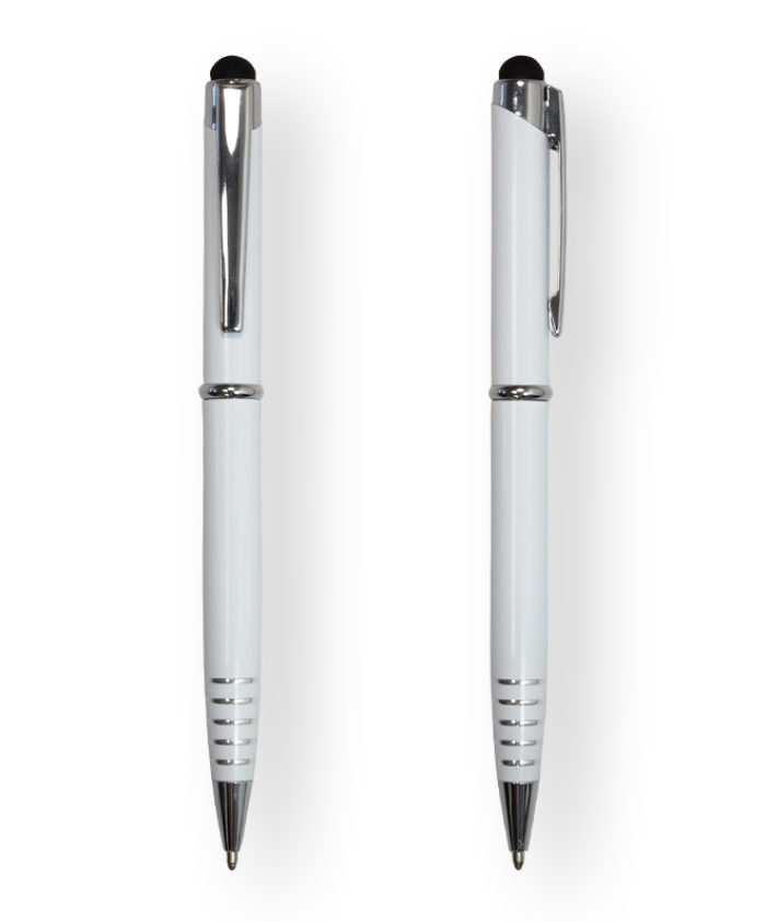 White FX Stylus Ballpoint Pen