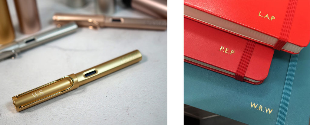 personalise-your-corporate-gifts-initials-notebooks-lamy