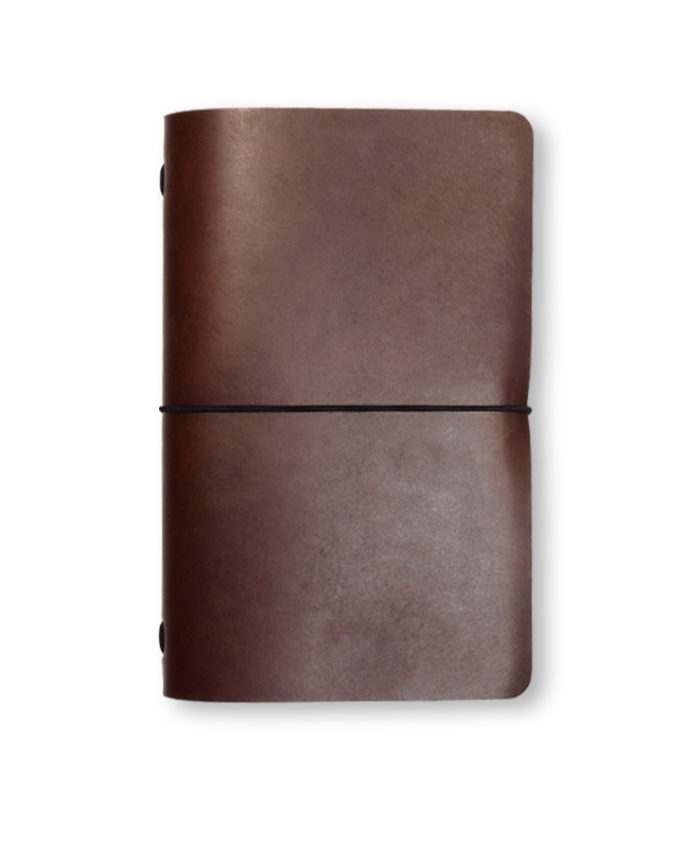 The Classic Radnor Refillable Leather Journal in Papaya