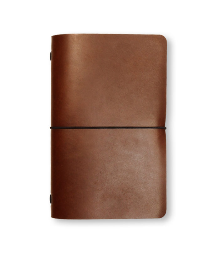 The Classic Radnor Refillable Leather Journal in Tan