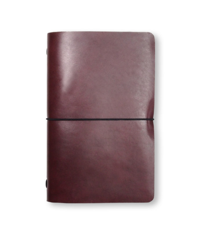 The Luxury Radnor Refillable Leather Journal in Burgundy