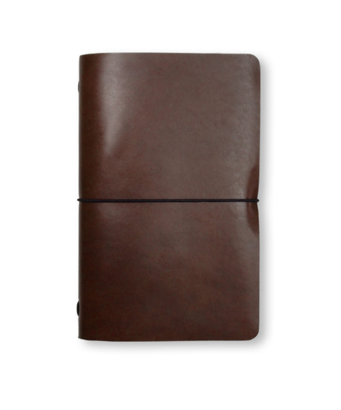 The Luxury Radnor Refillable Leather Journal in Dark Tan