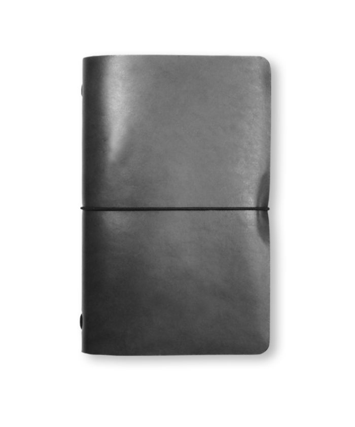 The Luxury Radnor Refillable Leather Journal in Grey