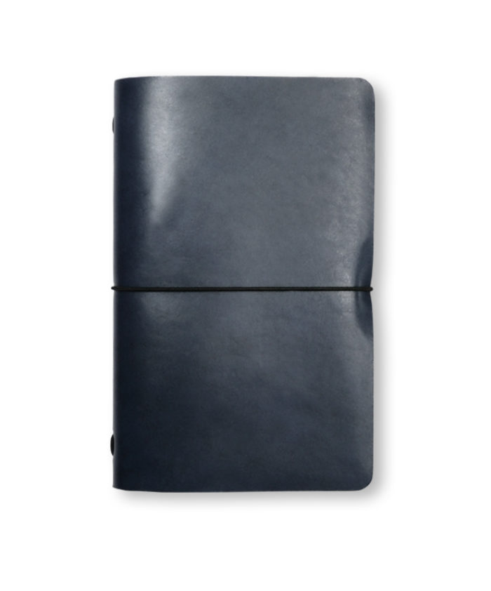 The Luxury Radnor Refillable Leather Journal in Mid Blue