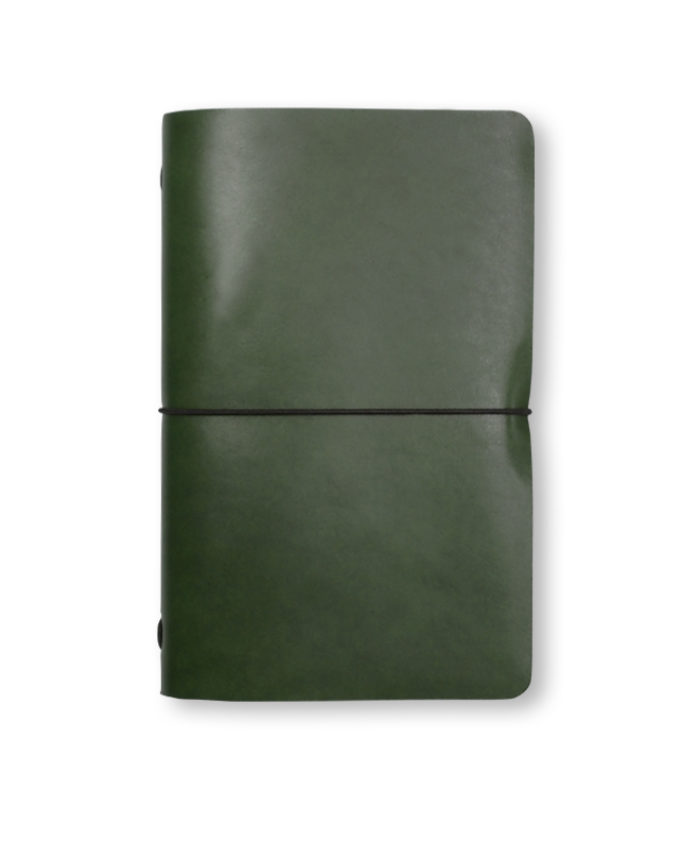 The Luxury Radnor Refillable Leather Journal in Mid Green