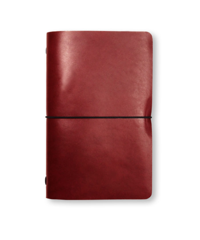 The Luxury Radnor Refillable Leather Journal in Red