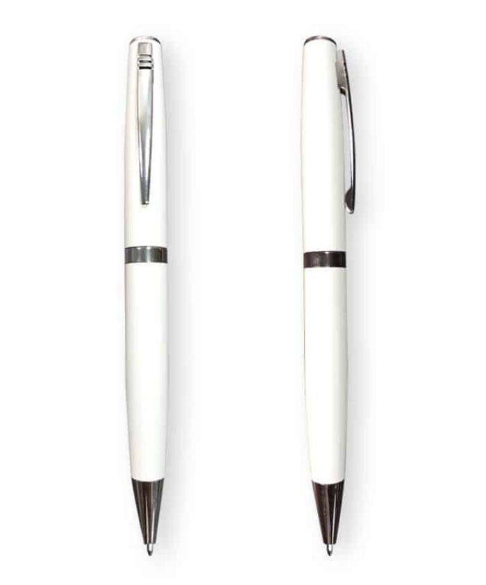 White Racer ballpoint pen