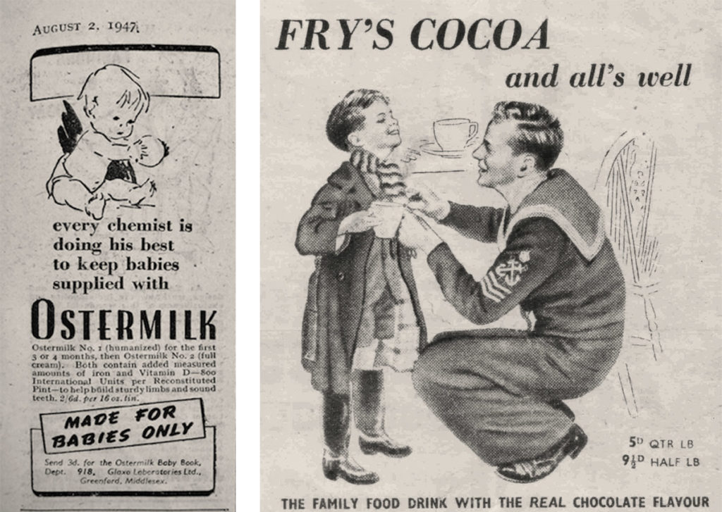 Frys-cocoa-powder-ostermilk-adverts