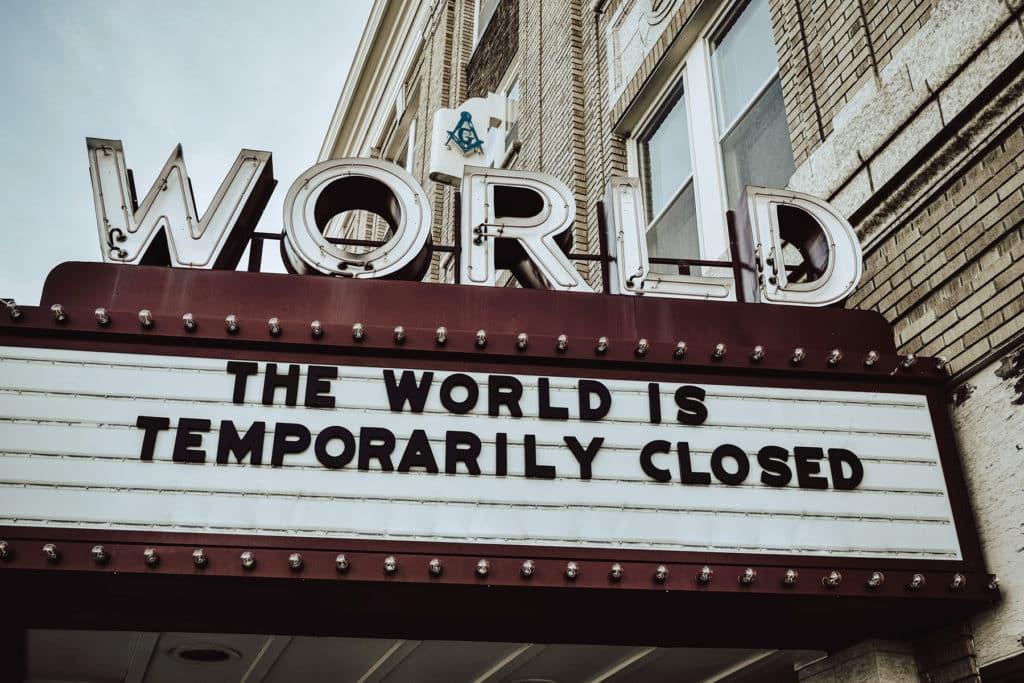 world is closed billboard